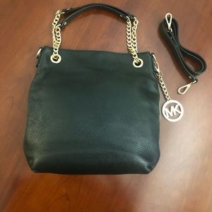 Michael Kors Black Leather Shoulder Bag